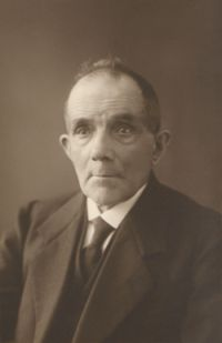 Portret van Franz Dohle.